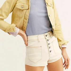 FREE PEOPLE High Waisted Button Up Shorts size 27